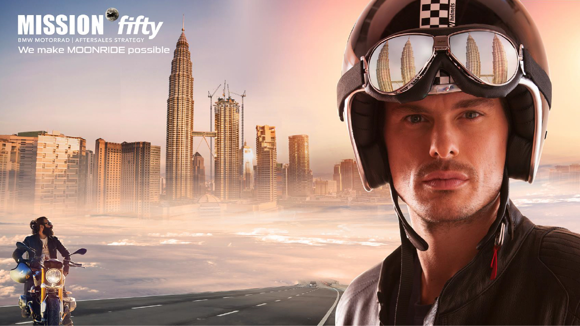 "Kampagne ""MIssion fifty"" BMW Motorrad"